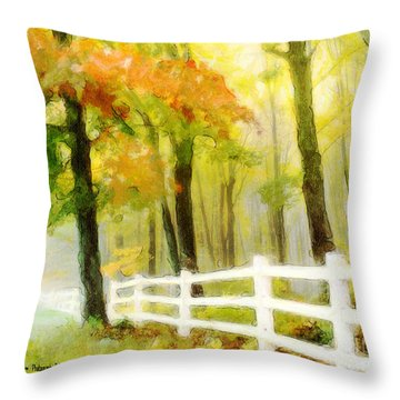 Early Autumn Morning Throw Pillow