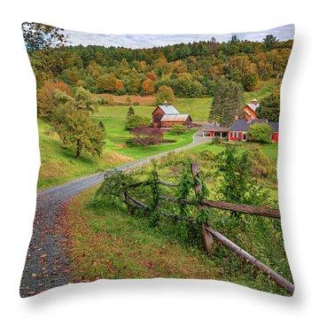 Early Fall At Sleepy Hollow Farm Throw Pillow