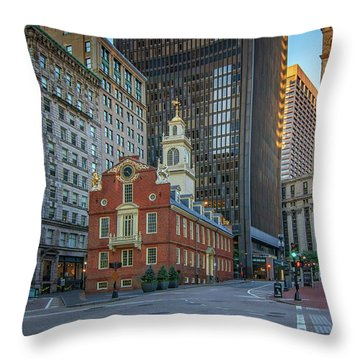 Early Morning At The Old Statehouse Throw Pillow