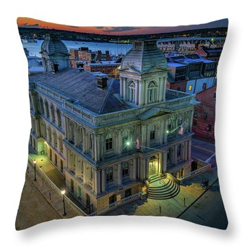 Throw Pillow featuring the photograph Early Morning In The Old Port by Rick Berk