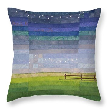 Early Morning Nine Patch Throw Pillow