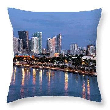 Early Rise Miami Throw Pillow
