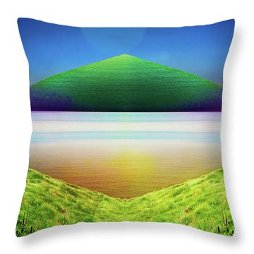 Earth Smile To Our Celestial Friends Throw Pillow