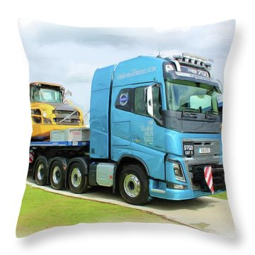 Earthmover Throw Pillow