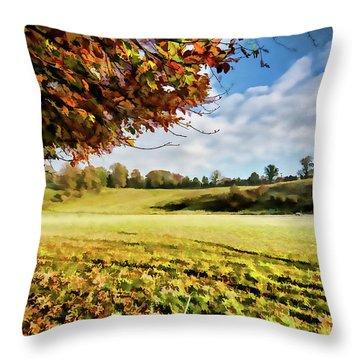 Easby Autumn Digital Painting Throw Pillow