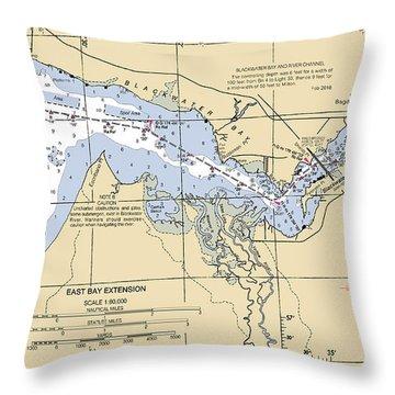 East Bay Extension Noaa Chart 11385_5 Throw Pillow