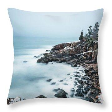 East Coast Winters Throw Pillow