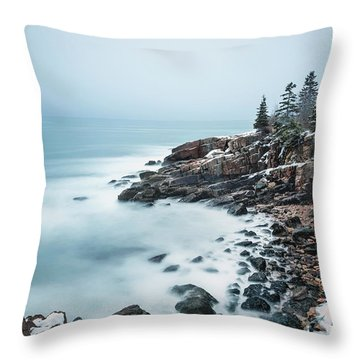 East Coast Winters Throw Pillow