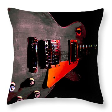 Ebony Relic Guitar Hover Series Throw Pillow