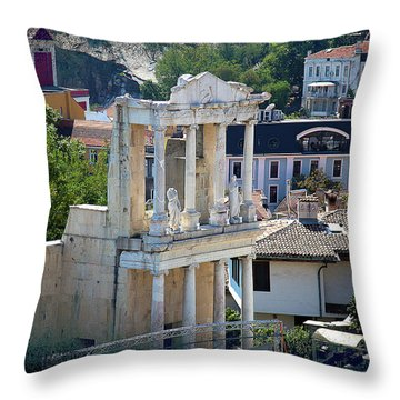 Throw Pillow featuring the photograph Echo From The Old Times by Milena Ilieva