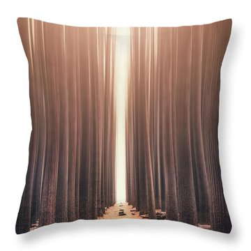 Echoes Rising Throw Pillow