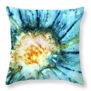 Eco Dyed Cosmos Throw Pillow