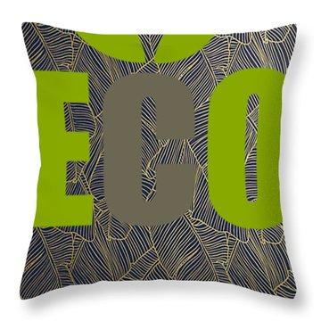 Eco Green Throw Pillow