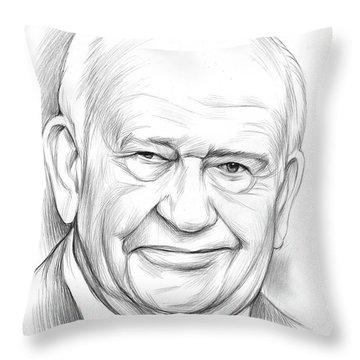 Ed Asner Throw Pillow