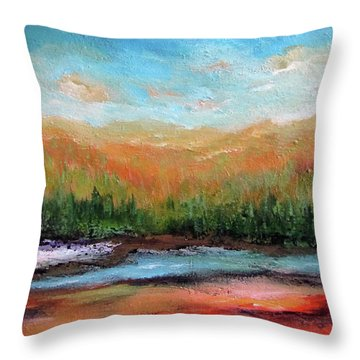 Edged Habitat Throw Pillow