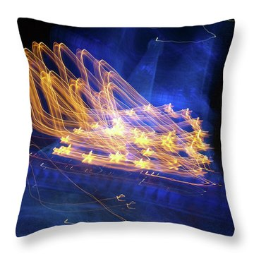 Throw Pillow featuring the photograph Effiel Tower, Blurred by Edward Lee