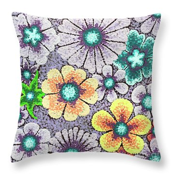 Efflorescent 11 Throw Pillow