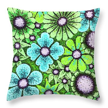 Efflorescent 9 Throw Pillow