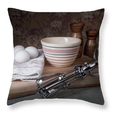 Eggbeater And Eggs Still Life Throw Pillow