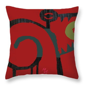 Throw Pillow featuring the digital art Eggeater by Attila Meszlenyi