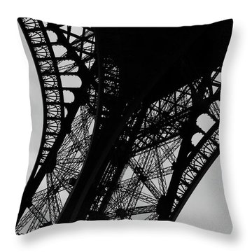 Throw Pillow featuring the photograph Eiffel Tower, Base by Edward Lee