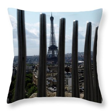 Throw Pillow featuring the photograph Eiffel Tower, Distant by Edward Lee
