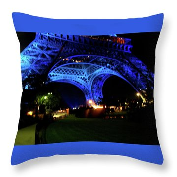 Throw Pillow featuring the photograph Eiffel Tower by Edward Lee