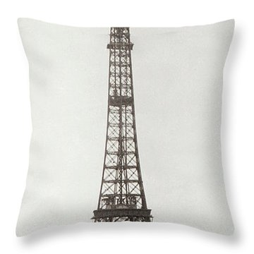 Eiffel Tower, Paris, 12th February And 12th March 1889 Throw Pillow