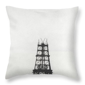 Eiffel Tower, Paris During Construction Throw Pillow