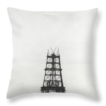 Eiffel Tower, Paris During Construction Throw Pillow