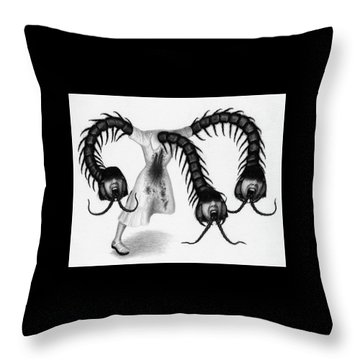 Eiko The Demon - Artwork Throw Pillow