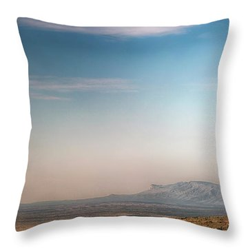 Guadalupe Mountains From A Distance Throw Pillow
