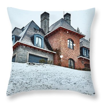 El Messidor Residence In The Argentine Patagonia Throw Pillow