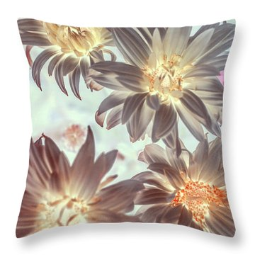 Electric Beauty Throw Pillow