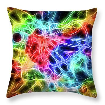 Electric Web Throw Pillow