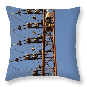 Electric Wires Pole Throw Pillow
