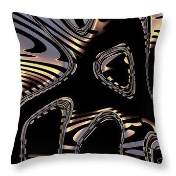 Elegant Black Fractal 2 Throw Pillow