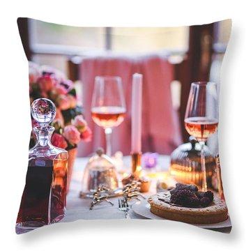 Elegant Tablewear Throw Pillow