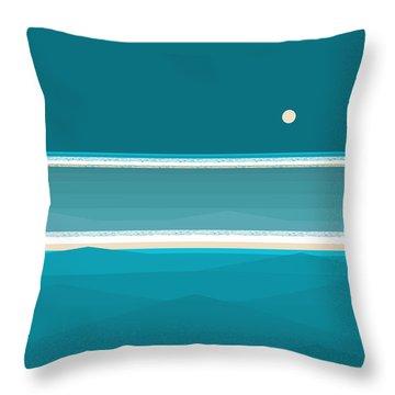 Elements - Aqua Water Throw Pillow