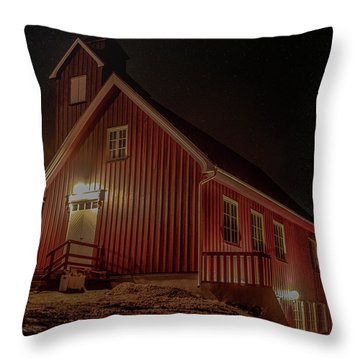 Elgsnes Chapel Throw Pillow