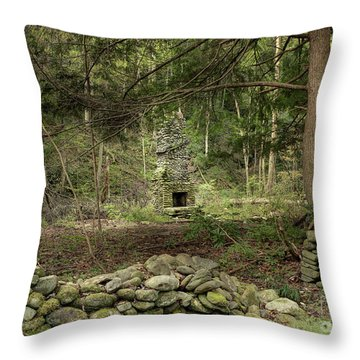 Abandoned Elkmont Throw Pillows