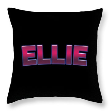 Throw Pillow featuring the digital art Ellie #ellie by TintoDesigns