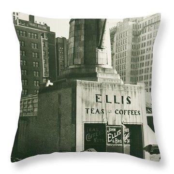 Ellis Tea And Coffee Store, 1945 Throw Pillow
