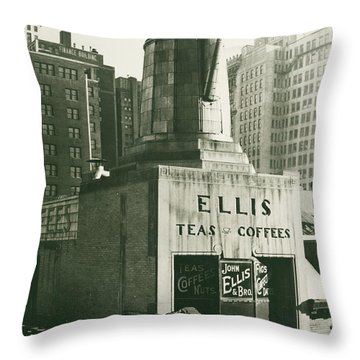 Ellis Tea And Coffee Store, 1945 Throw Pillow