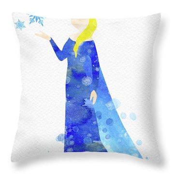 Elsa Watercolor Throw Pillow