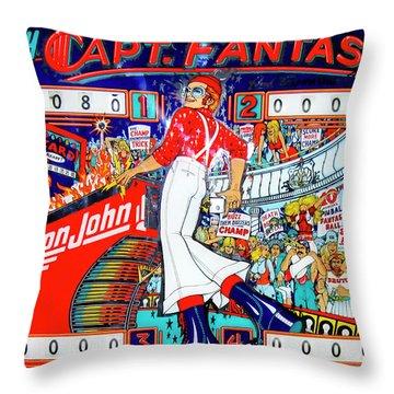Elton John Pinball Wizard Throw Pillow