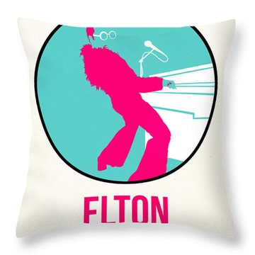Elton Poster  Throw Pillow