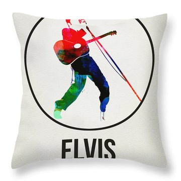 Elvis Presley Watercolor Throw Pillow