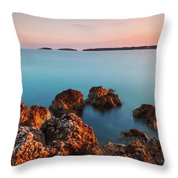 Ember And Blue Throw Pillow