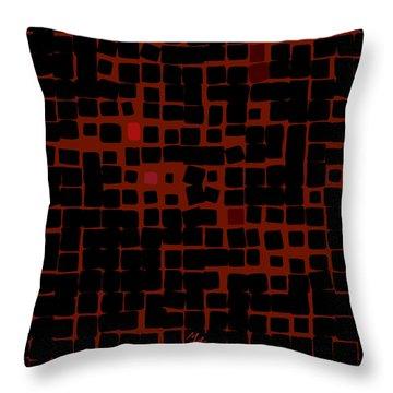 Throw Pillow featuring the digital art Ember by Attila Meszlenyi